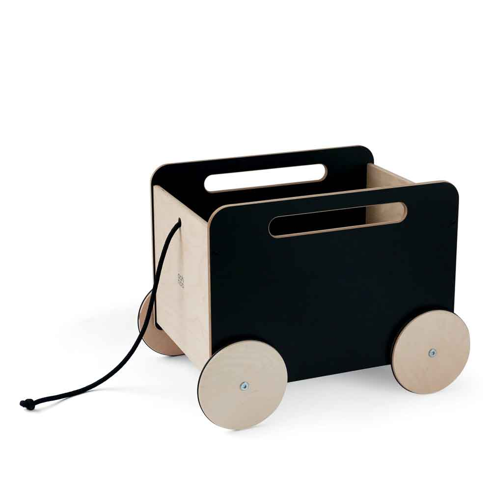 Toy Chest on Wheels – Black