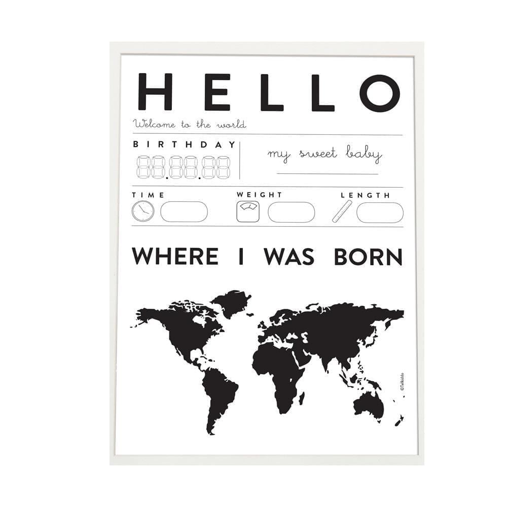Poster Baby Hello, A3