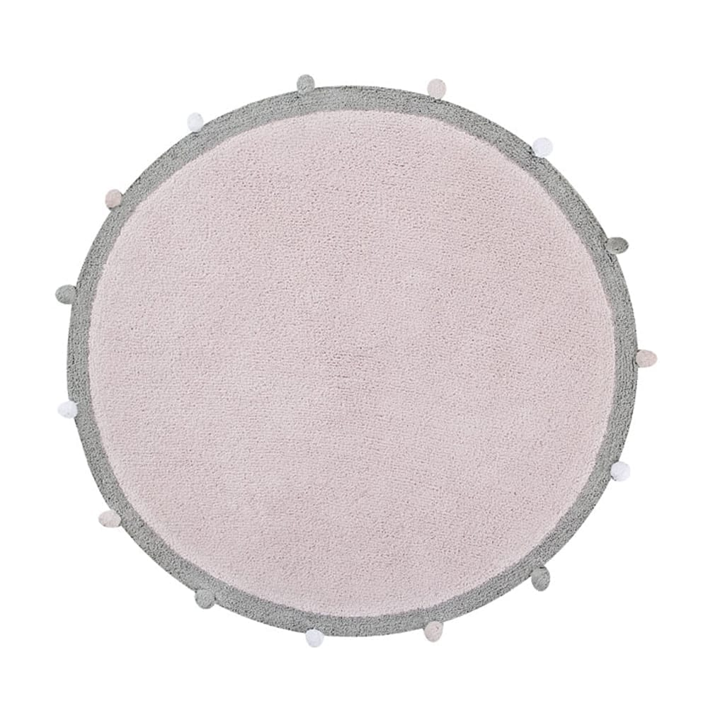Baby Room Rug – Bubbly – Pink – ø 120 cm