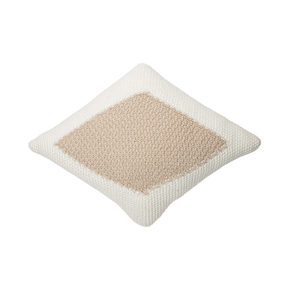 Knitted Cushion – Candy – Ivory/Linen – 30 x 40 cm