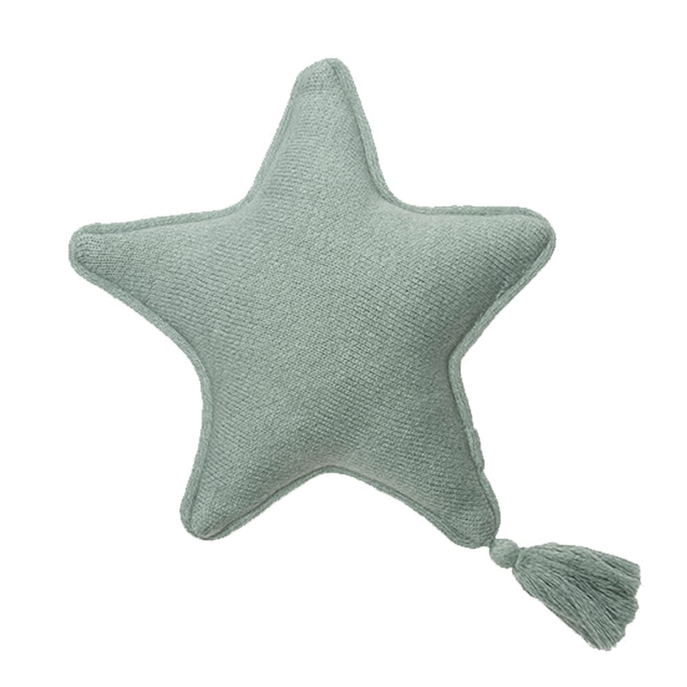 Knitted Cushion – Twinkle Star – Indus Blue – 25 x 25 cm