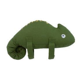 Musical Pull Toy, Carley the chameleon – Moss Green