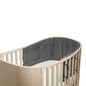 Bumper for Classic Baby Cot – Cool grey