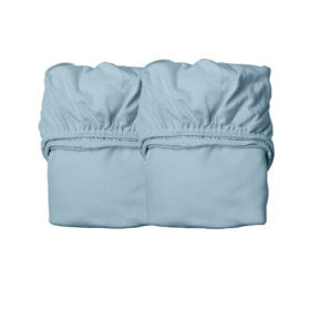 Sheets for Baby Cot, Organic – Dusty Blue (2pcs.) 60 x 120 cm