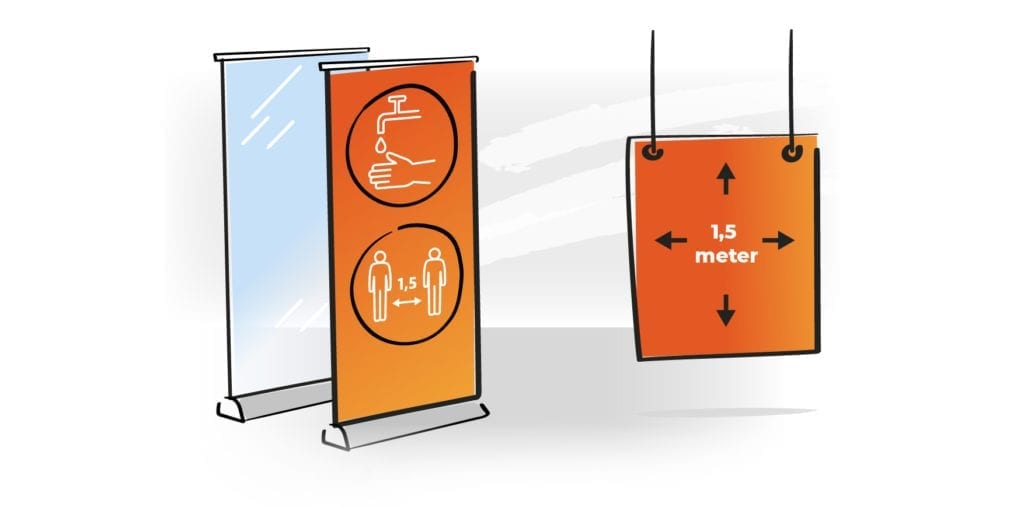 rolbanner + posters covid-19