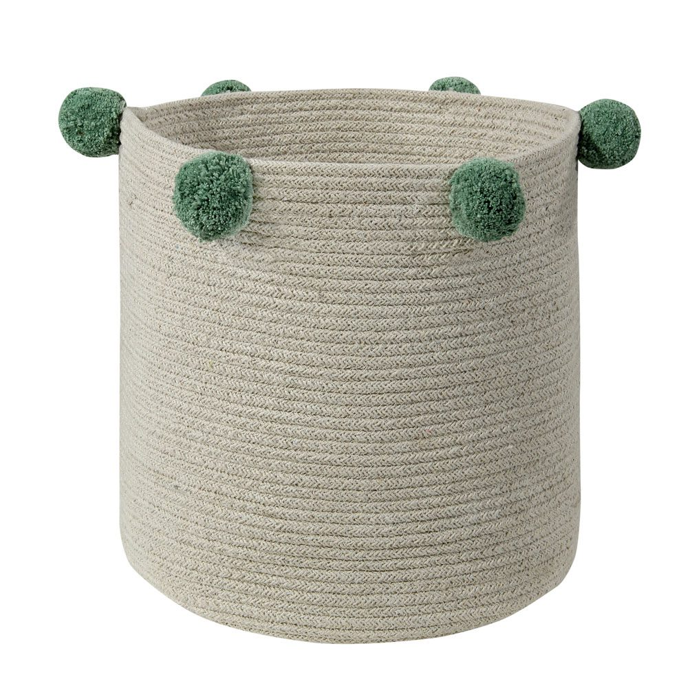 Lorena Canals – Opbergmand – Bubbly – Natural Green –  ø 30 cm