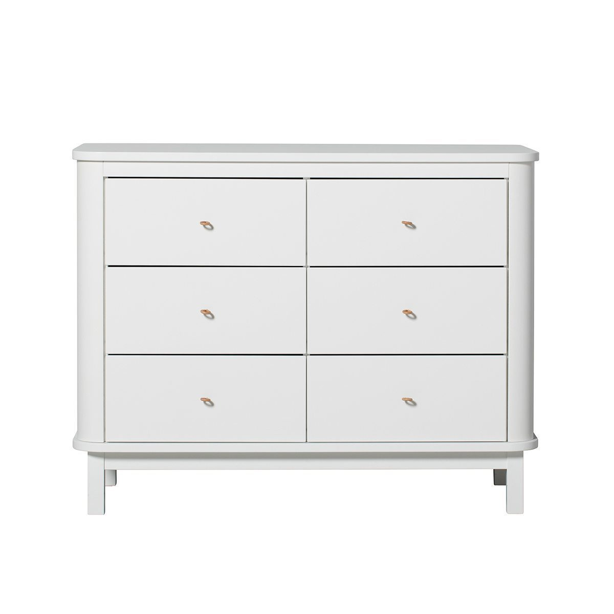 Oliver Furniture – Wood Commode 6 lades – Wit