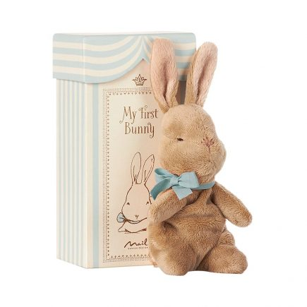 Maileg My First Bunny in Box Blue 16 7931 00